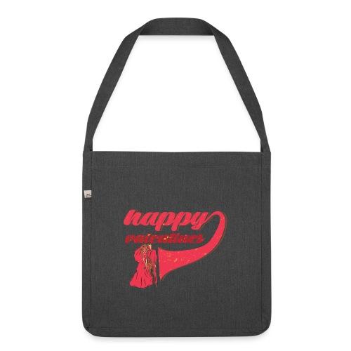 Fröhlicher Valentin Valentinstag Liebe Paar - Schultertasche aus Recycling-Material