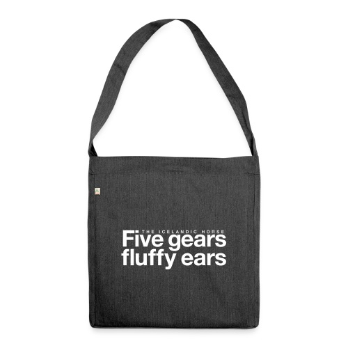 Five gears fluffy ears - Skulderveske av resirkulert materiale