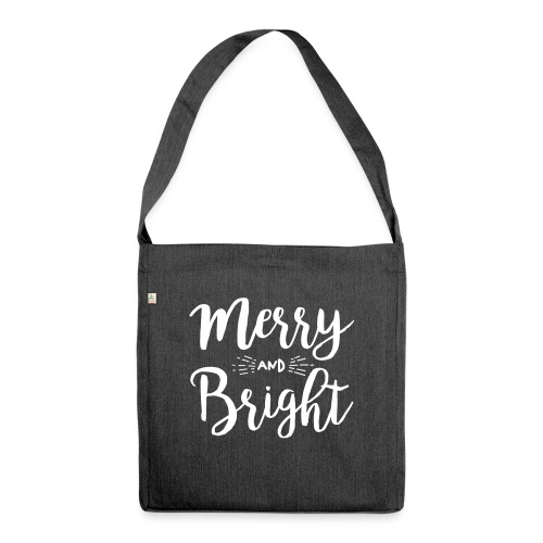 Merry and Bright - Schultertasche aus Recycling-Material