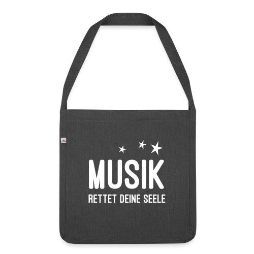 Musik rettet Deine Seele - Schultertasche aus Recycling-Material
