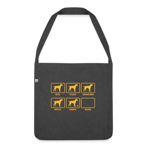Für alle Hundebesitzer mit Humor - Schultertasche aus Recycling-Material