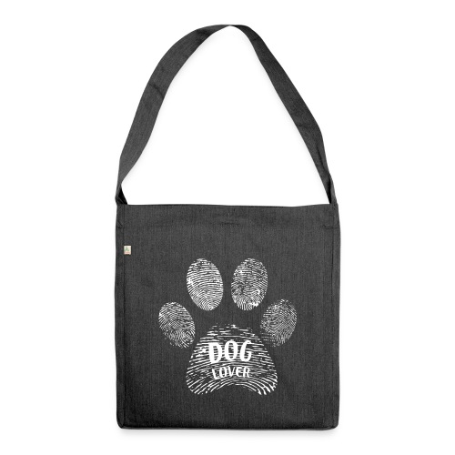dog lover paw - Schultertasche aus Recycling-Material