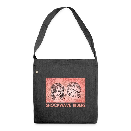 Shockwave Riders Faces orange - Schultertasche aus Recycling-Material