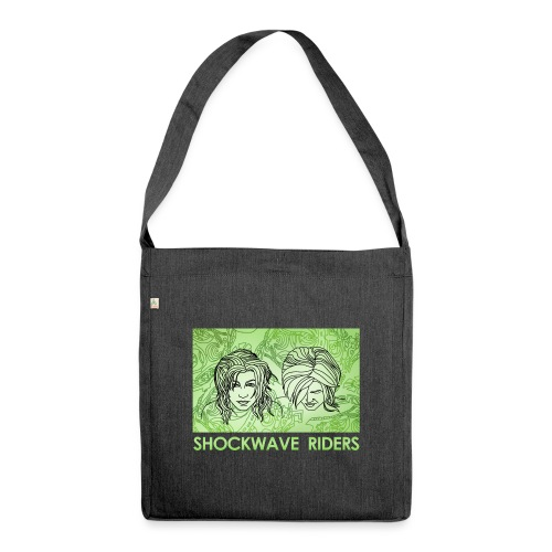 Shockwave Riders Faces green - Schultertasche aus Recycling-Material