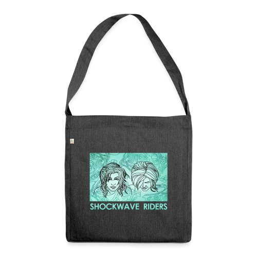 Shockwave Riders Faces again - Schultertasche aus Recycling-Material