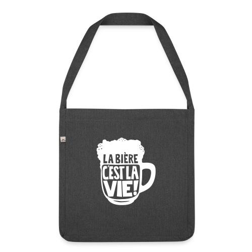 bière, la bière c'est la vie - Sac bandoulière 100 % recyclé