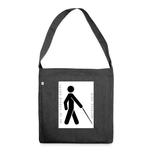 Blind T-Shirt - Shoulder Bag made from recycled material