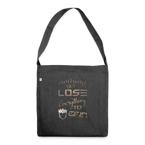 Nothign-to-Lose-light - Shoulder Bag made from recycled material