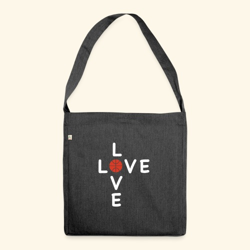 LOVE Cross basketball red 001 - Schultertasche aus Recycling-Material