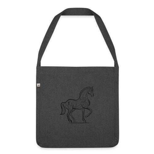 Equus Pferd - Schultertasche aus Recycling-Material