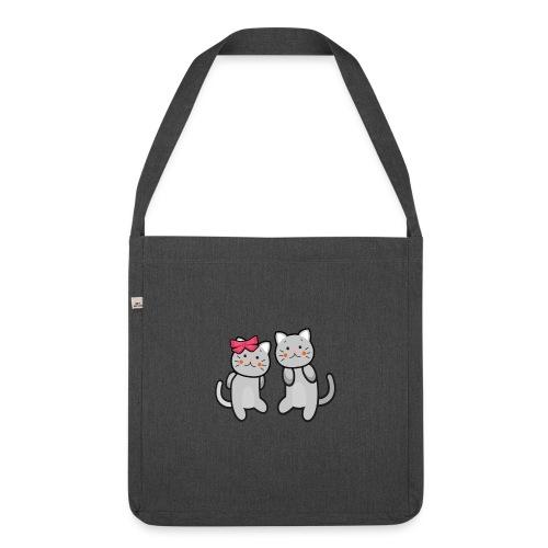 Kotki - Torba na ramię z materiału recyklingowego
