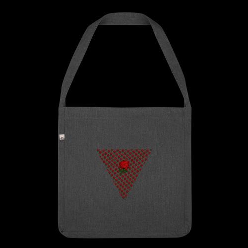 Dreieck Rose - Schultertasche aus Recycling-Material