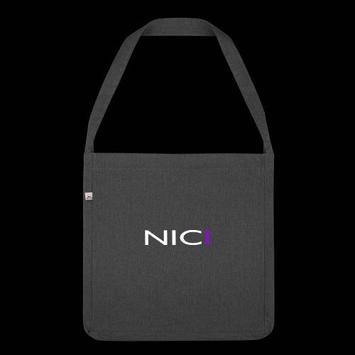 NICI logo WHITE - Olkalaukku kierrätysmateriaalista