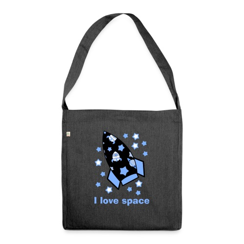 I love space - Borsa in materiale riciclato