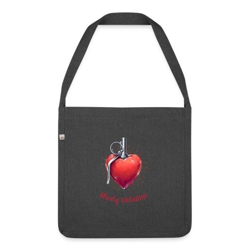 Bloody Valentine Design - Valentinstag Geschenk - Schultertasche aus Recycling-Material