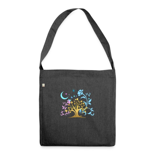 Mystic Tree - Schultertasche aus Recycling-Material