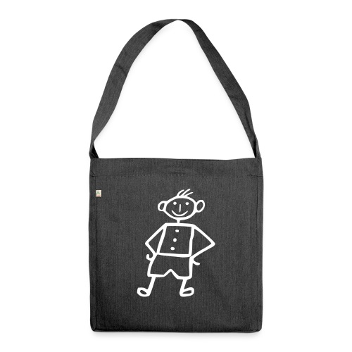 me-white - Schultertasche aus Recycling-Material