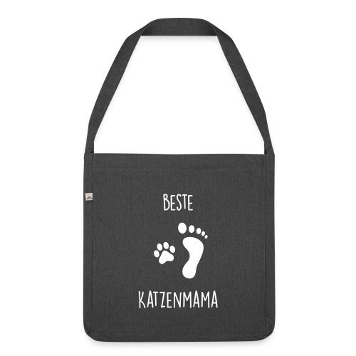 Vorschau: Beste Katzenmama - Schultertasche aus Recycling-Material
