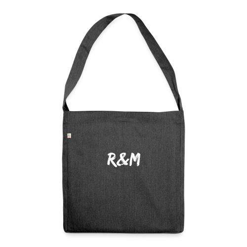 R&M Large Logo tshirt black - Shoulder Bag made from recycled material