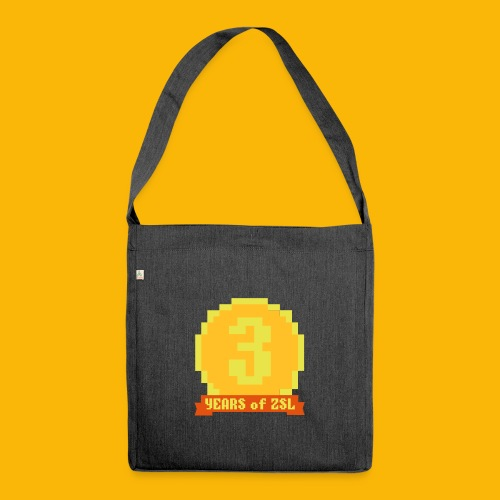 3YearBadge_3colours - Schultertasche aus Recycling-Material