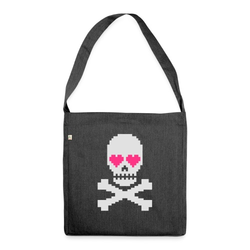 Skull Love - Schoudertas van gerecycled materiaal