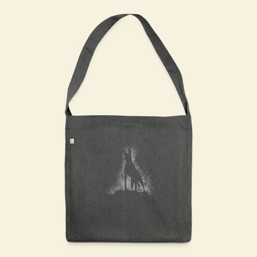 Dog Silhouette - Schultertasche aus Recycling-Material