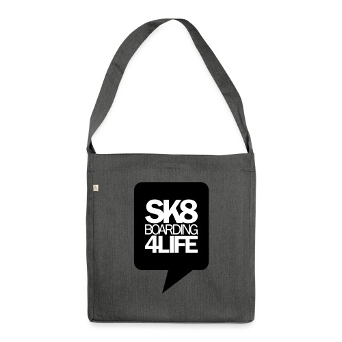 tshirtbackblack - Schultertasche aus Recycling-Material