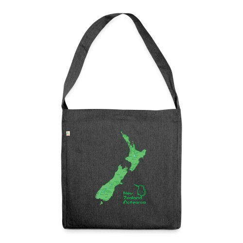 New Zealand's Map - Shoulder Bag made from recycled material