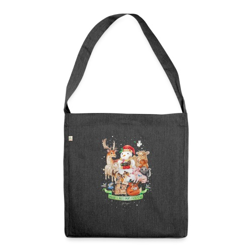 Vegan Christmas - Shoulder Bag made from recycled material