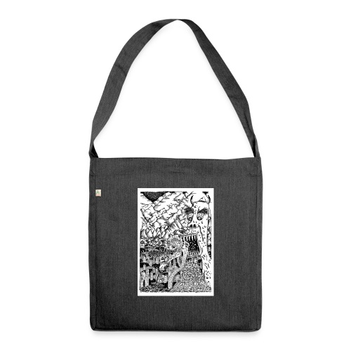 Sea Monsters T-Shirt by Backhouse - Shoulder Bag made from recycled material