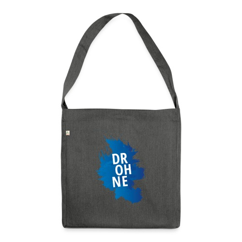Drohne Farbfleck - Schultertasche aus Recycling-Material