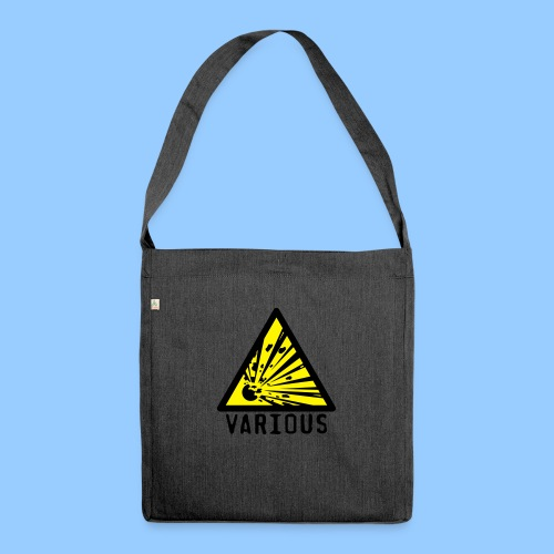 VariousExplosions Triangle (2 colour) - Shoulder Bag made from recycled material