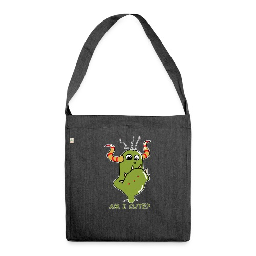 Cute monster - Shoulder Bag made from recycled material