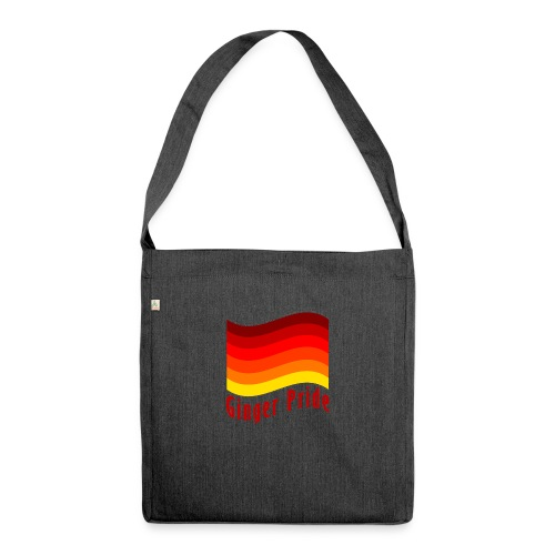Ginger Pride flag Dark png - Shoulder Bag made from recycled material