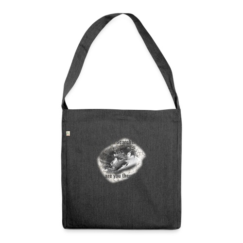 Hell Searcher, are you there? T-Shirt White - Shoulder Bag made from recycled material