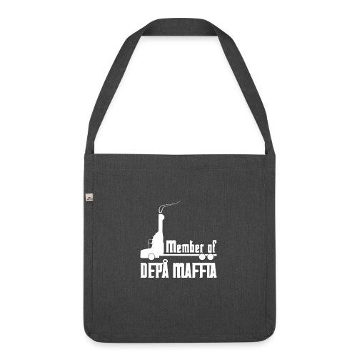 Depå Maffia vitt tryck - Axelväska av återvinningsmaterial