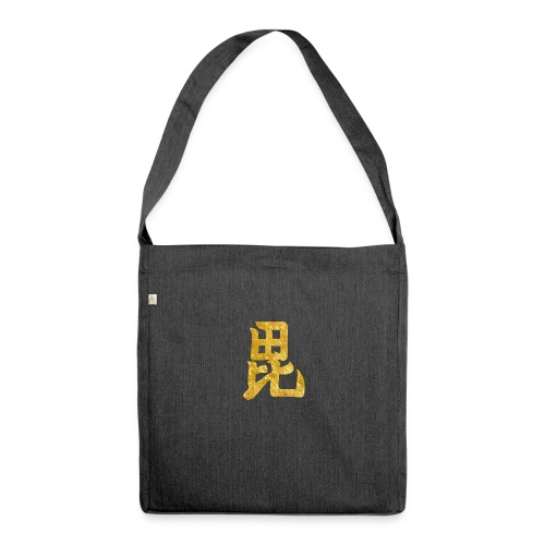 Uesugi Mon Japanese samurai clan in gold - Shoulder Bag made from recycled material