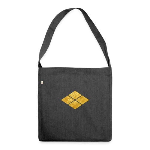 Takeda kamon Japanese samurai clan faux gold - Shoulder Bag made from recycled material