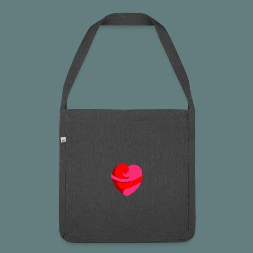 hearts hug - Borsa in materiale riciclato