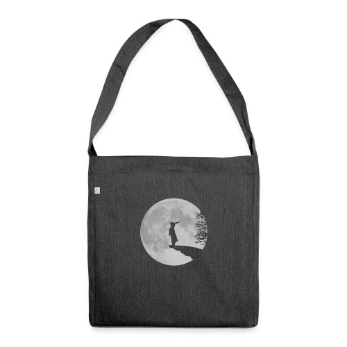 rabbit_wolf-png - Shoulder Bag made from recycled material