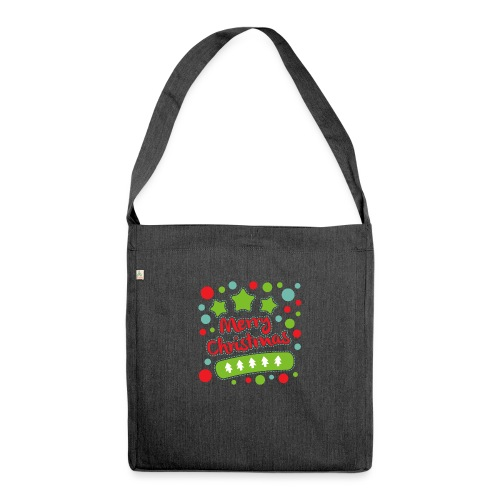 Merry Christmas - Shoulder Bag made from recycled material