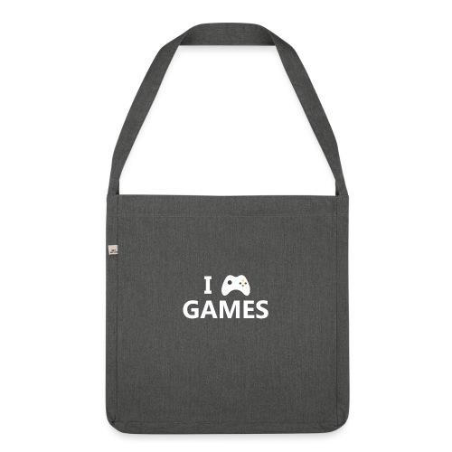 I Love Games 2 - Bandolera de material reciclado