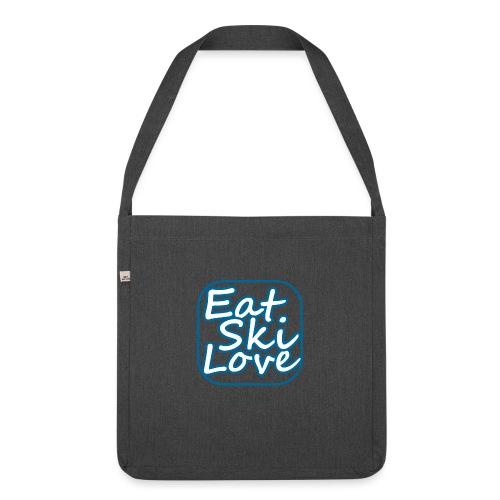 eat ski love - Schoudertas van gerecycled materiaal