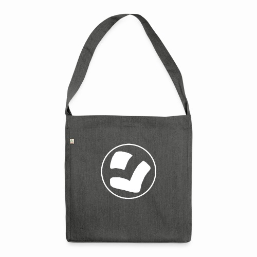 LaidPark White Logo - Olkalaukku kierrätysmateriaalista