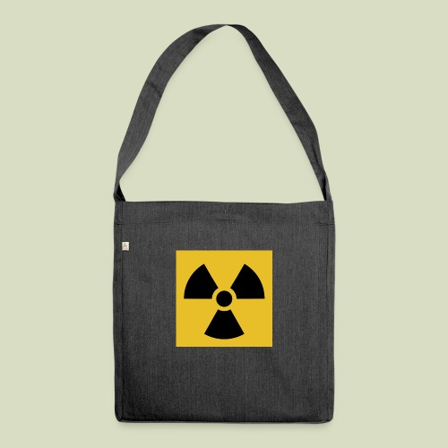 Radiation warning - Olkalaukku kierrätysmateriaalista