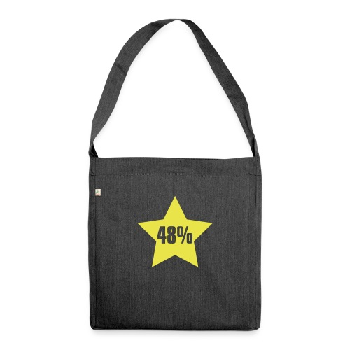 48% in Star - Shoulder Bag made from recycled material