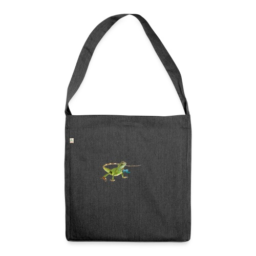Lizard T-shirt - Shoulder Bag made from recycled material