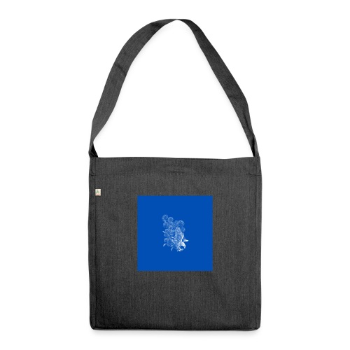 Windy Wings Blue - Shoulder Bag made from recycled material