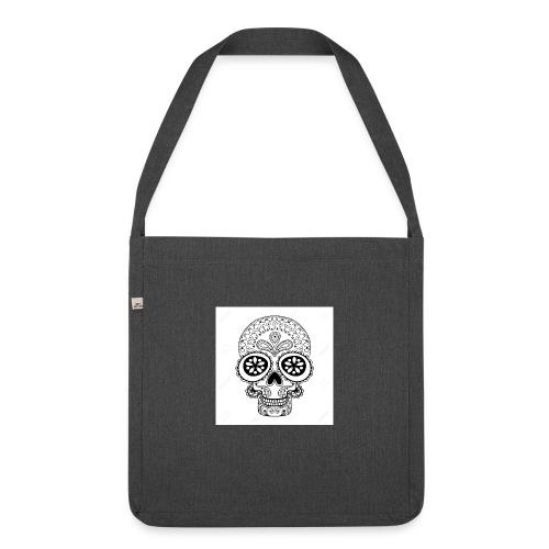 51457190 Disegno a mano Cranio in stile zentangle - Borsa in materiale riciclato