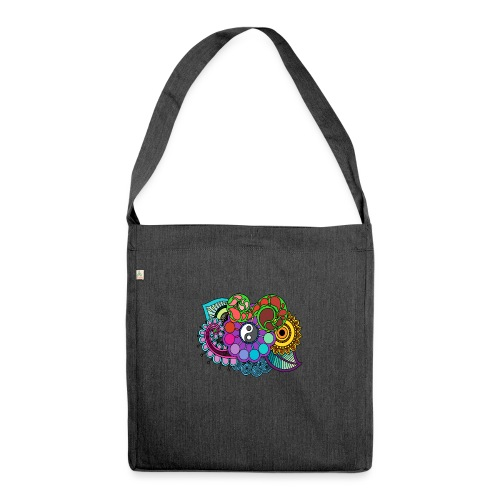 Coloured Nature Mandala - Shoulder Bag made from recycled material